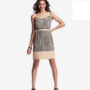 LOFT Dress // Size 4 // Black Cream Yellow